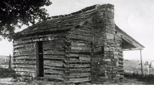 Sequoyah's cabin, ca. 1912 (Muriel Wright Collection) Courtesy of the Oklahoma Historical Society