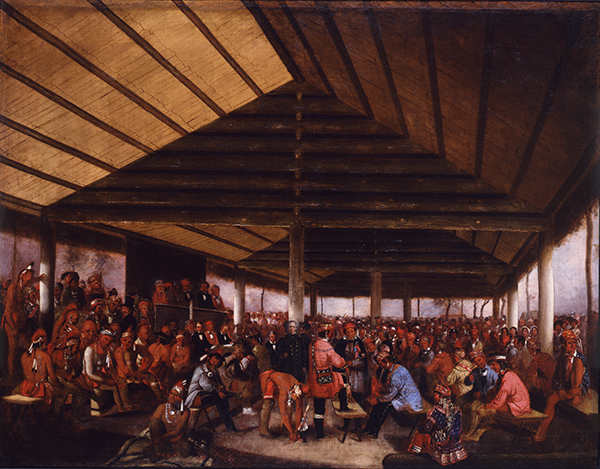 Indian Council of 1843 at Tallequah by John Mix Stanley
