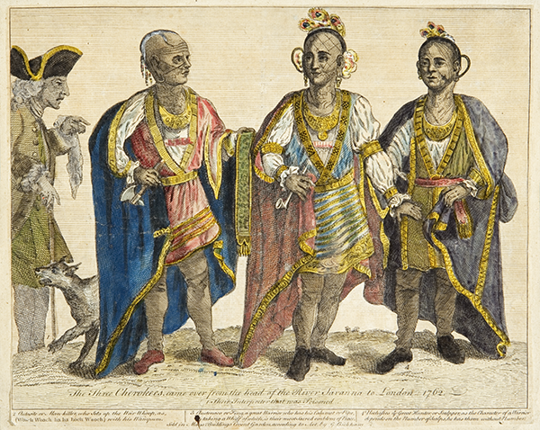 The Three Cherokees, Came Over From the Head of the River Savannah to London, 1762 by unknown artist